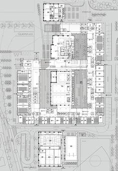 Image 9 of 16 from gallery of Bergen University College / Cubo Arkitekter + HLM Arkitektur. Courtesy of Cubo Arkitekter + HLM Arkitektur University Architecture, Cultural Architecture, Architecture Board, Education Architecture, School Architecture, Architecture Design, School Floor Plan, School Plan, School Building Design