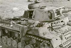Dead Panzer IV crewman