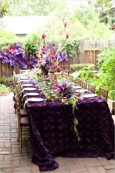 backyard bridal shower ideas #bridalshowerideas #RadiantOrchid #weddingchicks http://www.weddingchicks.com/2013/12/18/purple-and-gold-bridal-shower-ideas/