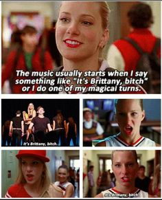 GLEE the way Santana is looking at Brittany in that picture :)