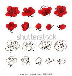 "Paint pink or white plum blossoms blooming out of a dark brown branch on Mischa's right wall. In Chinese calligraphy write next to it, ""Mei hua man tian xia"" ""Bing xue feng yu ta dou bu pa"" and ""yu leng ta yu kai hua"""