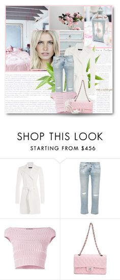 """""""Cropped distressed mid-rise boyfriend jeans"""" by fashion-and-beauty-miracles ❤ liked on Polyvore featuring Ralph Lauren Black Label, R13, Alexander McQueen, Chanel and Zara"""