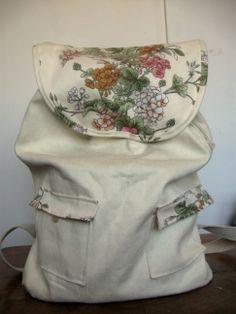 totalnie jasny z akcentem kwiatowym  #bag #plecaki #zet www.facebook.com/szycie.zet