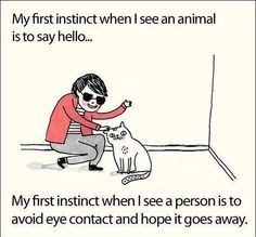 This is a predicament when I want to say hi to the pets people are walking but not the owner.