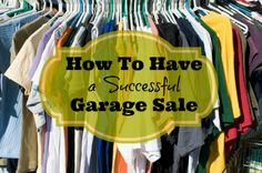 Successful Garage Sale Tips