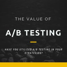 A/B testing offers your company the opportunity to gain real insight into its customers; why not implement it today? The Value, Inbound Marketing, Copywriting, Gain, Opportunity, Insight, Canning, Home Canning, Conservation