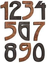 #4  Hammered copper house number 4 inch high Craftsman// Arts and Crafts