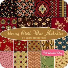 Strong Civil War Melodies Fat Quarter Bundle Judie Rothermel for Marcus Brothers Fabrics - Fat Quarter Shop