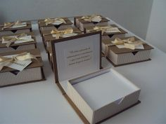 Lembrancinha Casamento: Bloco caixa Souvenir Weending. www.mimosart.com.br