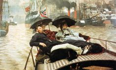 The Athenaeum - The Thames (James Tissot - )  Owner/Location: Wakefield Art Gallery  (United Kingdom - Wakefield) Dates: circa 1876 Artist age:Approximately 40 years old. Dimensions: Unknown Medium: Painting - oil on canvas