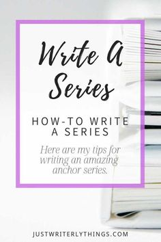 Are you itching to write a series? Here are my tips and insights into what it takes to write an amazing anchor series that will allow you to continue your passion! Writing Images, Book Writing Tips, Writing Process, Writing Resources, Writing Help, Writing Quotes, Writing Guide, Article Writing, Writing Ideas