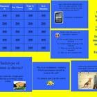 Entire Jeopardy game to review types of sentences. Designed for upper elementary and middle schoolers. Jeopardy includes multiple choice, short ans...
