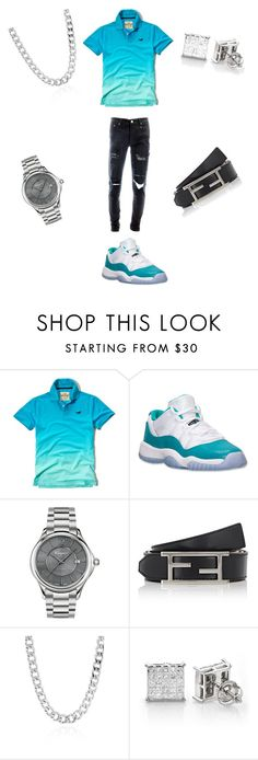 """""""Untitled #420"""" by dimplesssss ❤ liked on Polyvore featuring Hollister Co., Retrò, Salvatore Ferragamo, Fendi, Belk & Co., men's fashion and menswear"""
