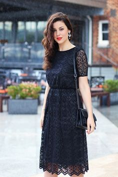 I like the dress, although I would want it to be ankle length. I've always wanted a plain black dress