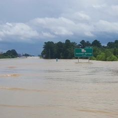 Interstate Sign for Denham Springs Louisiana- August 2016 La Flooding, Denham Springs Louisiana, Louisiana Flooding, Wild Weather, Lsu, Current Events, Tours, Memories, Signs