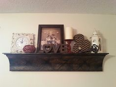 My living room shelf decor- diy/hobby lobby