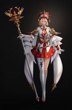 Priestress Fantasy Female Warrior, Fantasy Armor, Female Art, Fantasy Characters, Female Characters, Anime Characters, Chica Fantasy, Fantasy Girl, Female Character Concept