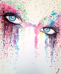 """""""A look into utopia"""" acrylic on canvas 100 x 120 cm For Sale! #eyes #utopia #art #stare #colour #popart #painting"""