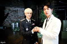 Doctor Jin and Suga #BehindtheSceneofSick
