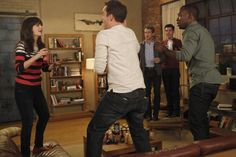 """Would you line up around the corner if the iPhone was called ""the slippery germ brick""?"" (New Girl - ""Normal"")"