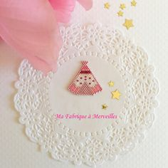 "Broche ""Mon joli Tipi"" en perles Miyuki"