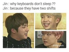 Read 10 from the story BTS PICTURES by Kimon- (𓀡ᴷ) with 166 reads. Hey thanks for your help and today will be jin jokes mkay Kookie Bts, Bts Jin, Bts Bangtan Boy, Jimin, Bangtan Bomb, Bts Memes, K Pop, Kung Lao, Jin Dad Jokes
