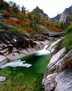 (North Korea) Valley in Mt Geumgang by Kim Ok-young.