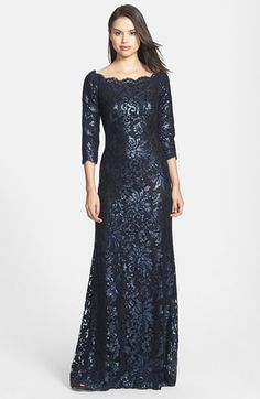Tadashi Shoji Embellished Lace Gown available at #Nordstrom