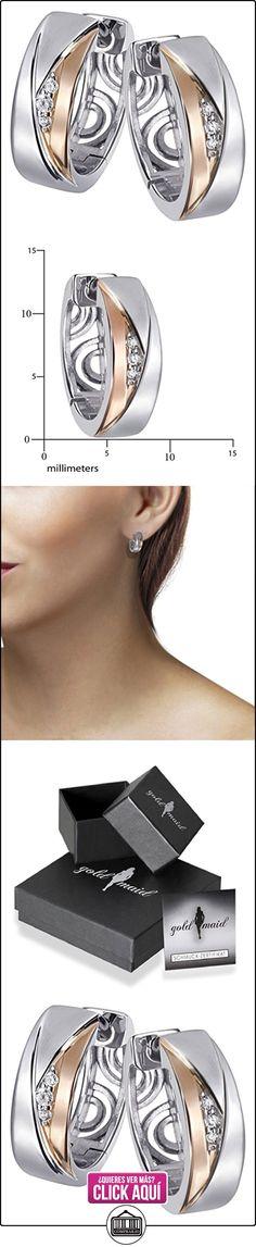 Goldmaid Pendientes de Mujer de plata con Redondo Circonita Blanco  ✿ Joyas para mujer - Las mejores ofertas ✿ ▬► Ver oferta: https://comprar.io/goto/B00HYY0BPE
