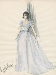 Princess gown was designed by Edith Head for Natalie Wood in Inside Daisy Clover, 1965.
