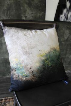 Distressed Warehouse Print Cushion