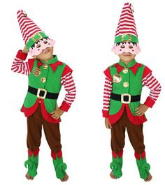 New Style Kids Costume Green Elf Christmas Costumes for Boys 2014 #Affiliate