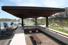 Hill Thalis - Sydney architecture - Pyrmont Point Park Canopy - on deck