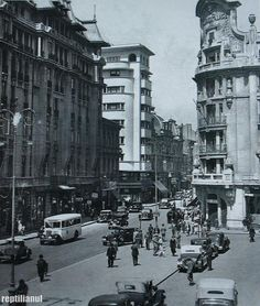 """Bucharest photos from the first decades of the century - mostly from the interwar period (between the two World Wars). ♦ The end of """"Little Paris"""" (click photo) ♦ Mall Of America, North America, Interwar Period, Little Paris, Time Travel, Shopping Travel, Beach Trip, Beach Travel, Bucharest Romania"""