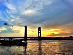 Sunset From Ampera South Of Sumatera