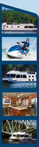 Rent a houseboat with friends on the lake of the Ozarks
