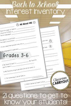 Looking for an easy way to learn about your students? This 21-question survey will help you to forge meaningful relationships with your students this school year! #backtoschool #gettoknowyou #upperelementary #fifthgrade #sixthgrade