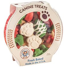 """Freshly baked with premium, humangrade ingredients, these fancy, cookieshaped Christmas dog treats are just what your favorite, tailwaggin' """"elf"""" deserves Boasting yummy taste and mouthwatering aroma, the 11oz. assortment includes approximately 50 gourmet Christmas treats for... more details available at https://perfect-gifts.bestselleroutlets.com/gifts-for-pets/for-dogs/product-review-for-claudias-canine-cuisine-santa-paws-classic-gourmet-dog-cookies/"""