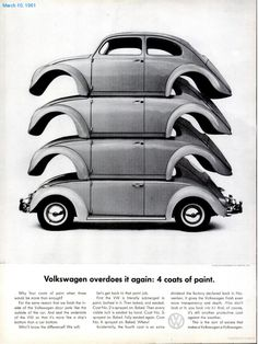 Volkswagen overdoes it again: 4 coats of paint