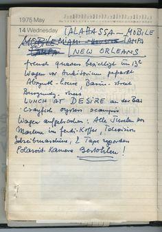 Nachlass Curd Jürgens | Terminkalender 14.5.1975
