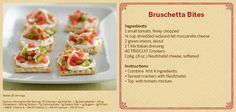 Triscuit Toppers - Bruschetta Bites