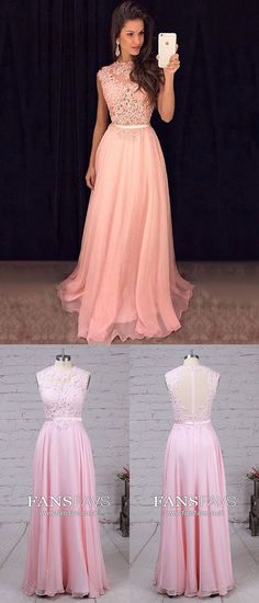 Pink Prom Dresses,Long Prom Dresses For Teenagers,Simple Prom Dresses Chiffon,Modest Prom Dresses Tulle,Cheap Prom Dresses Lace