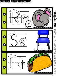 Alphabet Writing Practice, Teaching The Alphabet, Alphabet For Kids, Alphabet Activities, Preschool Worksheets, Welcome To Preschool, Abc Tracing, Spanish Alphabet, Kindergarten Centers