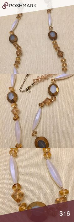 Frosted & Brown Beaded Necklace Frosted & Brown Beaded Necklace by LC LC Lauren Conrad Jewelry Necklaces