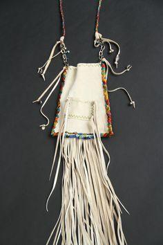 leather bag by SuSu  ....#boho#leather#gypsy#beads#shaman bag#fringe