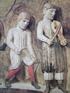 1196-inizi 1200, Parma, Battistero, Antelami, suonatori e danzatore -2-