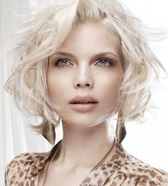 Gorgeous ethereal short women hairstyle