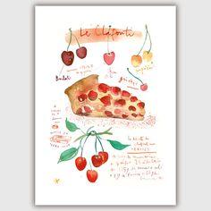 La recette du clafouti Illustration Décor par lucileskitchen