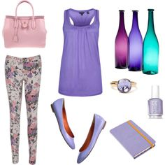 FLOWER PANT, created by lelykely on Polyvore