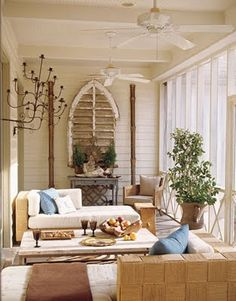Sun Porch  chaises for chatting and reading